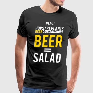 Beer = Salad - Men's Premium T-Shirt