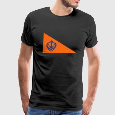 The Nishan Sahib, Sikh Flag. - Men's Premium T-Shirt