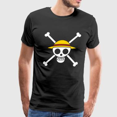 Straw Hat Pirates Flag for Black Shirts - Men's Premium T-Shirt