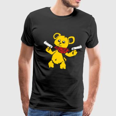 Teddy Bear with Gun - Men's Premium T-Shirt