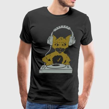 Cat Metal Mixer Cat Scratching Beats - Men's Premium T-Shirt