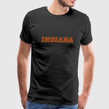 Indiana College Style - Men's Premium T-Shirt