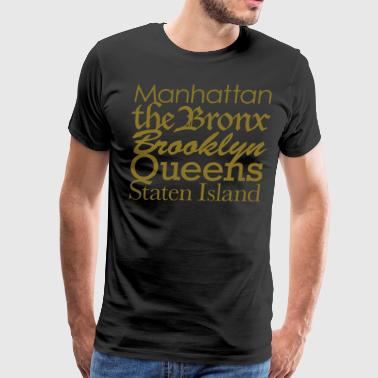 New York Boroughs - Men's Premium T-Shirt