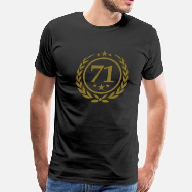Number 71 Birthday 71 - Men's Premium T-Shirt