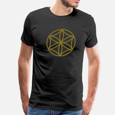 Venus Aphrodite Flower of Aphrodite, c, Symbol of  love, beauty and transformation, Power Symbol, Talisman - Men's Premium T-Shirt