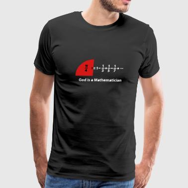 Leibniz series of pi - Men's Premium T-Shirt