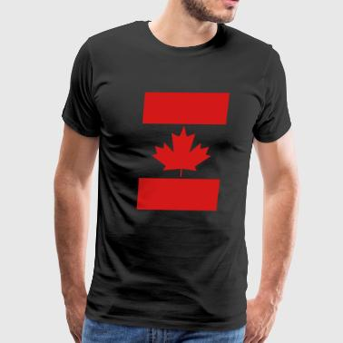 Vertical Canada Flag - Men's Premium T-Shirt