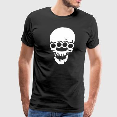 Skull with brass knuckles  - Men's Premium T-Shirt