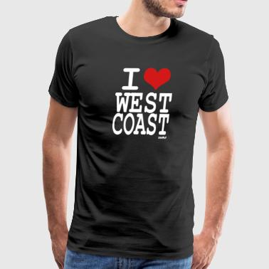 i love west coast by wam - Men's Premium T-Shirt
