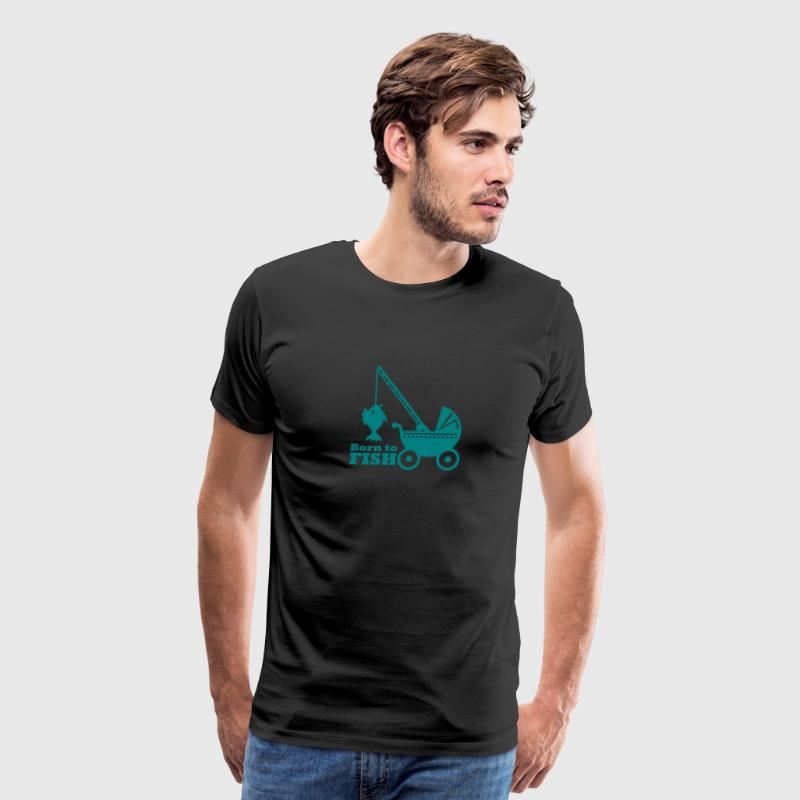 born to fish (pram, 1c) - Men's Premium T-Shirt