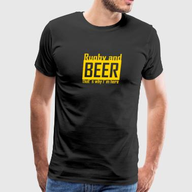 rugby and beer - Men's Premium T-Shirt