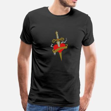 Dagger Heart Dagger Tattoo patjila2 - Men's Premium T-Shirt