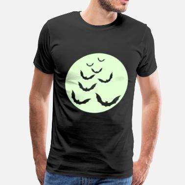 Glow In The Dark Moon bats - Men's Premium T-Shirt