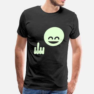 Hand Sign Hand Sportswear Show The Single Finger Emoticon (Fuck Off / You) - Men's Premium T-Shirt