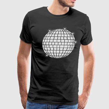 disco mirror ball with stars - 1 Color - Men's Premium T-Shirt