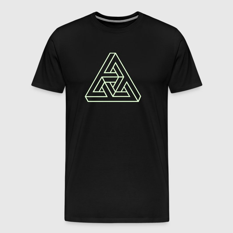 Triangle geometry endless knot infinity mathematic - Men's Premium T-Shirt