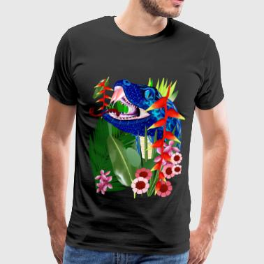 Blue Deep Jungle Snake  - Men's Premium T-Shirt