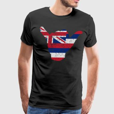 Flag of Hawaii Hang Loose - Men's Premium T-Shirt