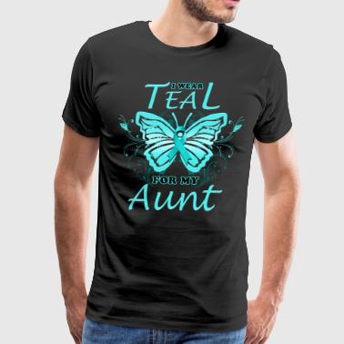 Ovarian Cancer I Wear Teal For My Aunt (BF) - Men's Premium T-Shirt