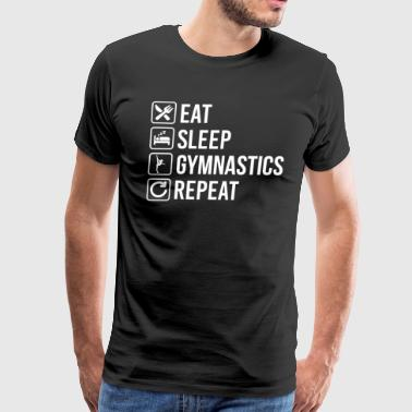 Gymnastics Eat Sleep Repeat - Men's Premium T-Shirt
