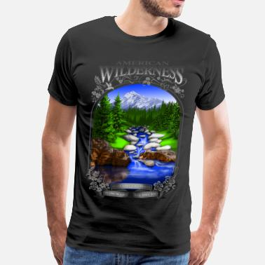 Wilderness AMERICAN WILDERNESS - Men's Premium T-Shirt