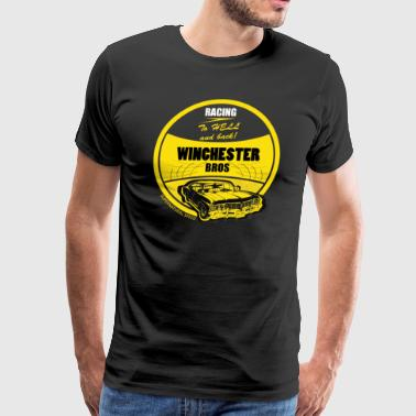 Racing To Hell And Back - Men's Premium T-Shirt