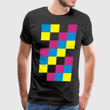Pantone CMYK Color Squares - Men's Premium T-Shirt