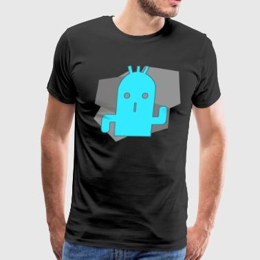 Cactuar Stone (Blue) - Men's Premium T-Shirt