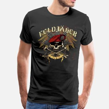German Military Feldjager MP Skull Prussian Star Eagle - Men's Premium T-Shirt