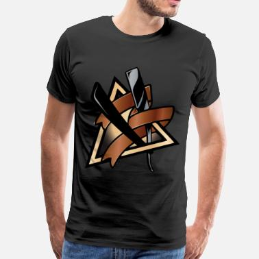 Straight Razor razor - Men's Premium T-Shirt