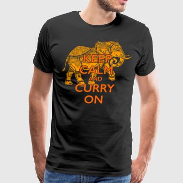 Keep Calm and Curry On 1 - Men's Premium T-Shirt