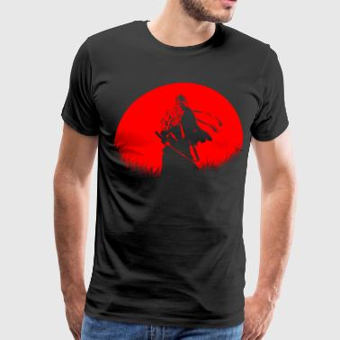 Red Moon Burn Samurai - Men's Premium T-Shirt