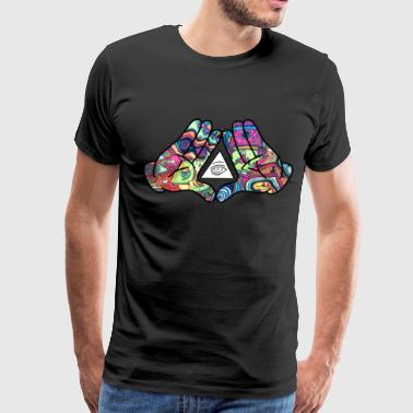 Mickey Mouse Hands Fuck Diamond Hands (Trippy) - Men's Premium T-Shirt
