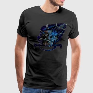 Dragon Chain Nightmare Demon Chained - Men's Premium T-Shirt