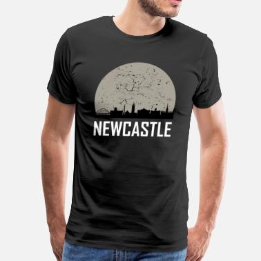 Newcastle Newcastle Full Moon Skyline - Men's Premium T-Shirt