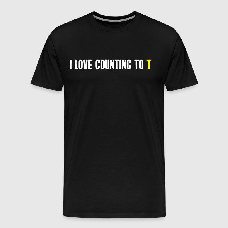 Ultimate Frisbee T-Shirt: Funny Stall Count Joke - Men's Premium T-Shirt