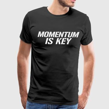 Momentum is Key Motivation Workout T-Shirt - Men's Premium T-Shirt