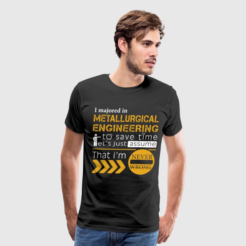 Metallurgical engineering T shirt - Men's Premium T-Shirt