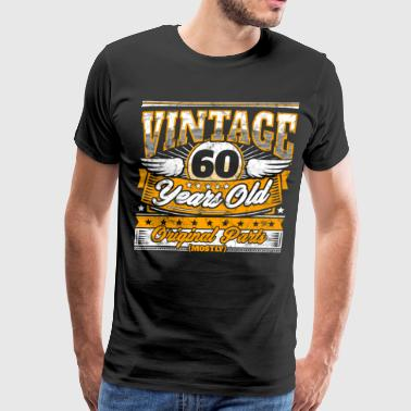 Funny 60th Birthday Shirt: Vintage 60 Years Old - Men's Premium T-Shirt