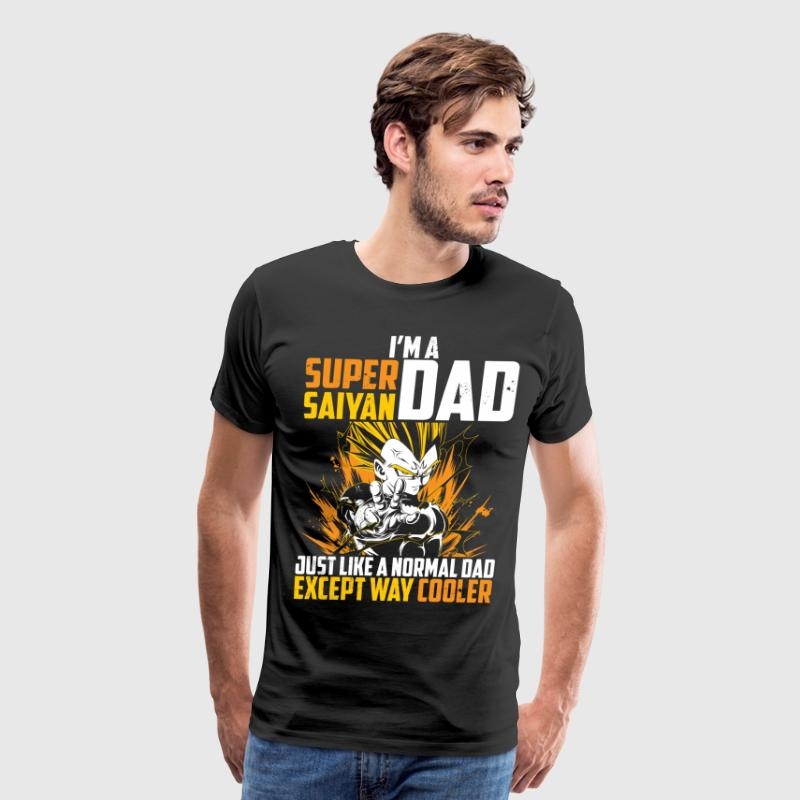 dragon ball super saiyan dad majin vegeta t shirt - Men's Premium T-Shirt