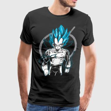 dragon ball super saiyan vegeta god t shirt - Men's Premium T-Shirt