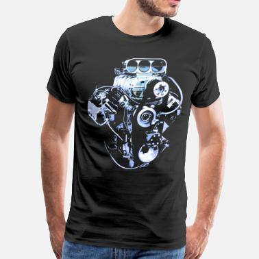 V8 Blue Big Block - Men's Premium T-Shirt