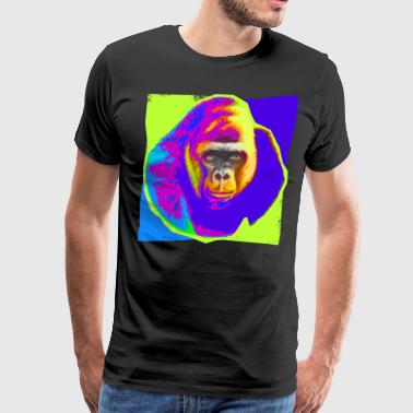 Gorilla - Original art @TraePerezTattoos - Men's Premium T-Shirt