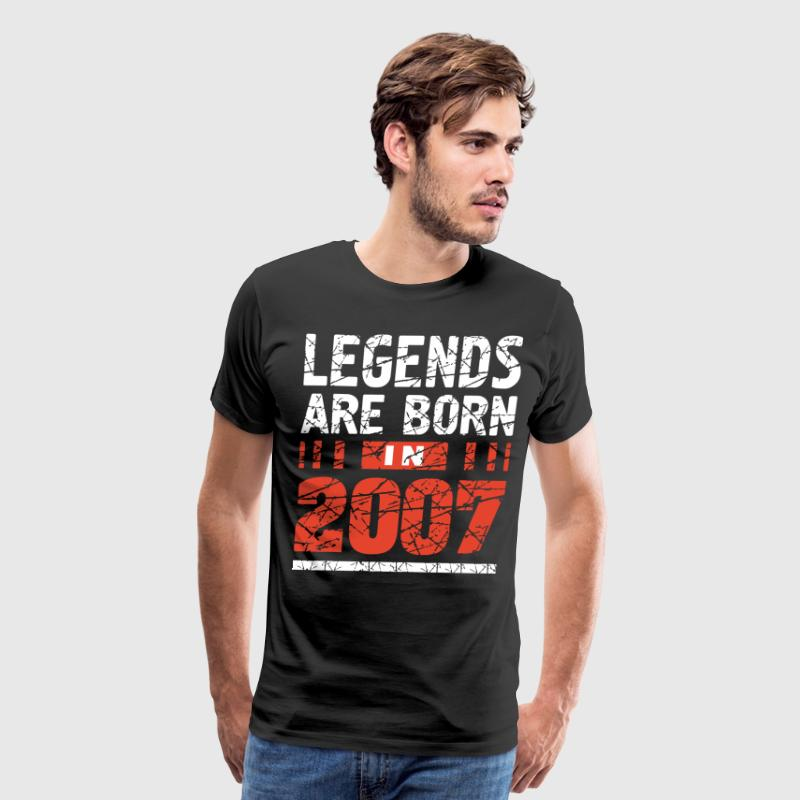 Legends are born in 2007 t-shirts - Men's Premium T-Shirt