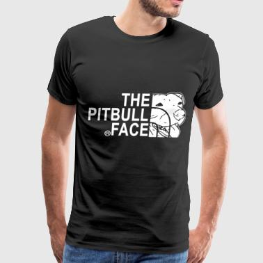 The Pitbull Face Gildan - Men's Premium T-Shirt