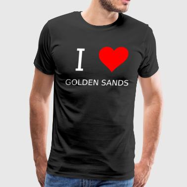 I love Golden Sands - Men's Premium T-Shirt