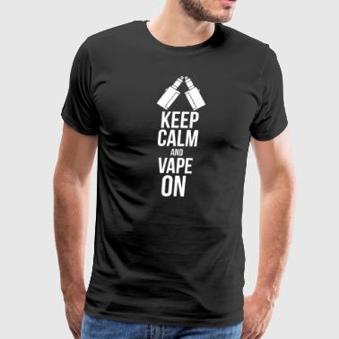 E Smoke Vaping E-Cigarette Smoking Vape - Men's Premium T-Shirt