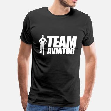 Aviation Satire TEAM AVIATOR Black - Men's Premium T-Shirt