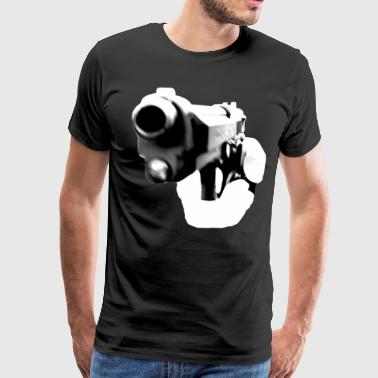 Beretta Gun Pointed Handgun - Men's Premium T-Shirt