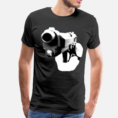 Handgun Love Pointed Handgun - Men's Premium T-Shirt